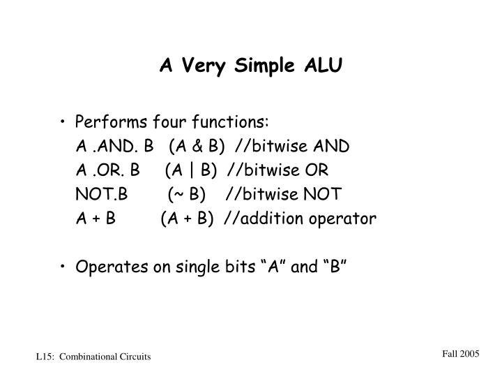A Very Simple ALU