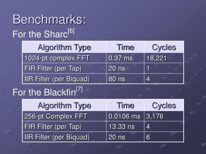 Benchmarks: