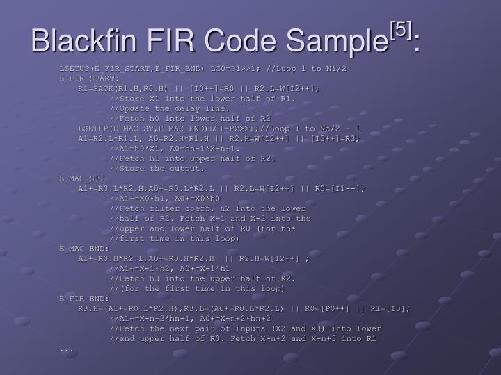 Blackfin FIR Code Sample