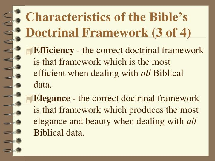 Characteristics of the Bible's Doctrinal Framework (3 of 4)