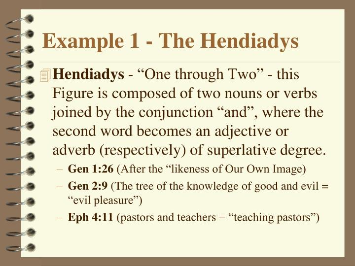 Example 1 - The Hendiadys