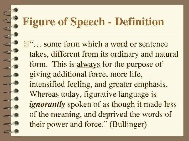 Figure of Speech - Definition