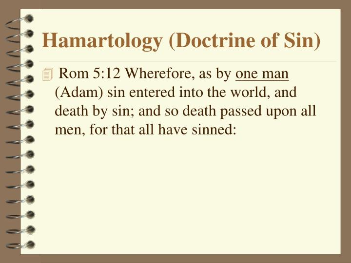 Hamartology (Doctrine of Sin)