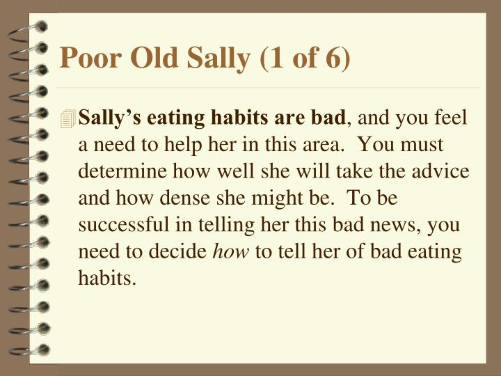 Poor Old Sally (1 of 6)