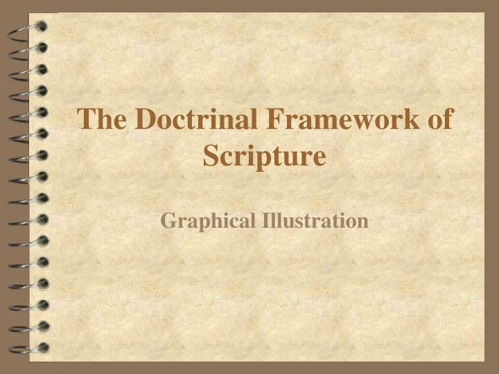 The Doctrinal Framework of Scripture