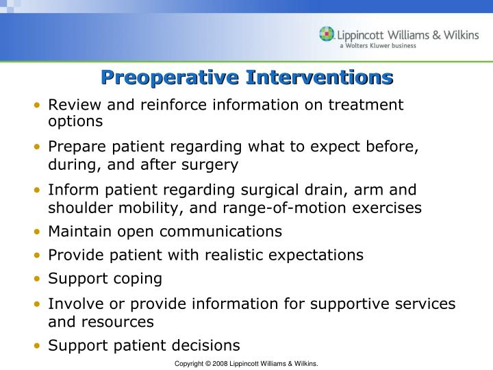post operative guidelines breast cancer surgery
