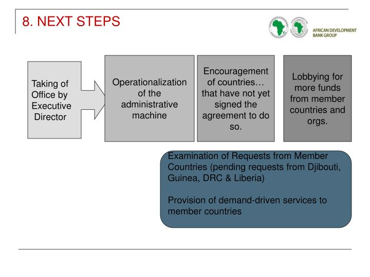 8. NEXT STEPS