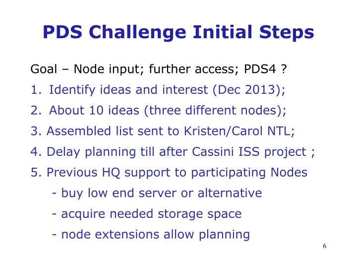 PDS Challenge Initial Steps