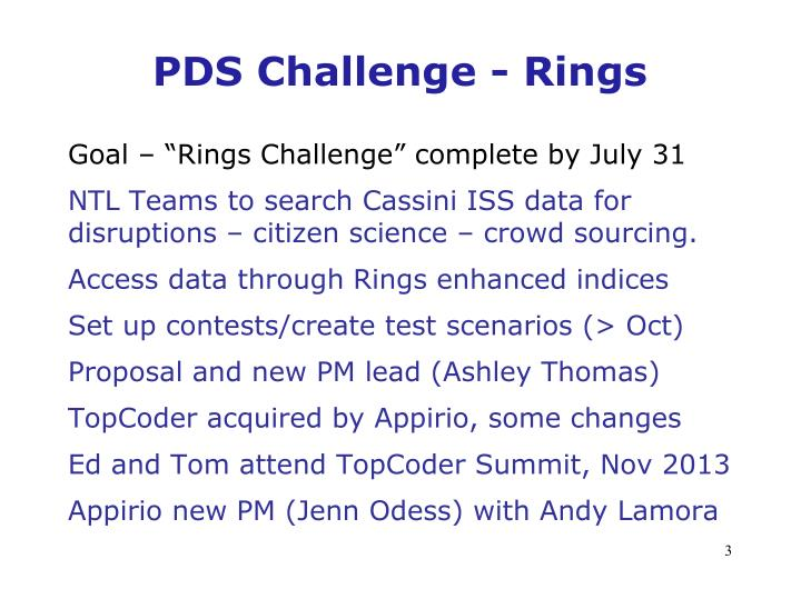 PDS Challenge - Rings