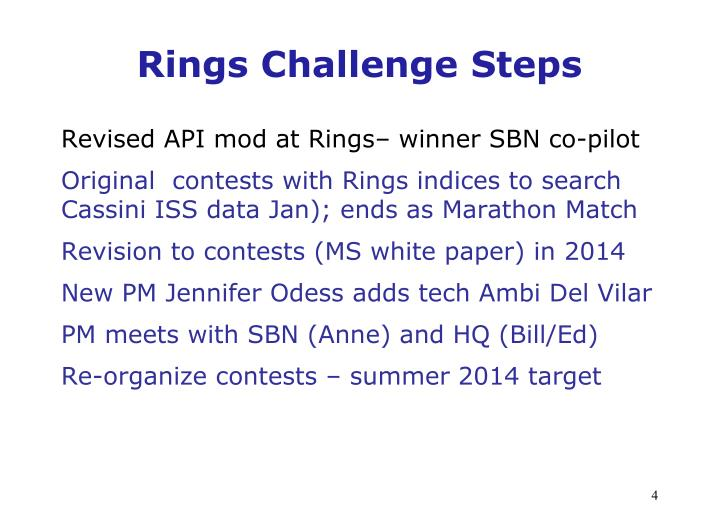 Rings Challenge Steps