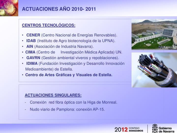 ACTUACIONES AÑO 2010- 2011