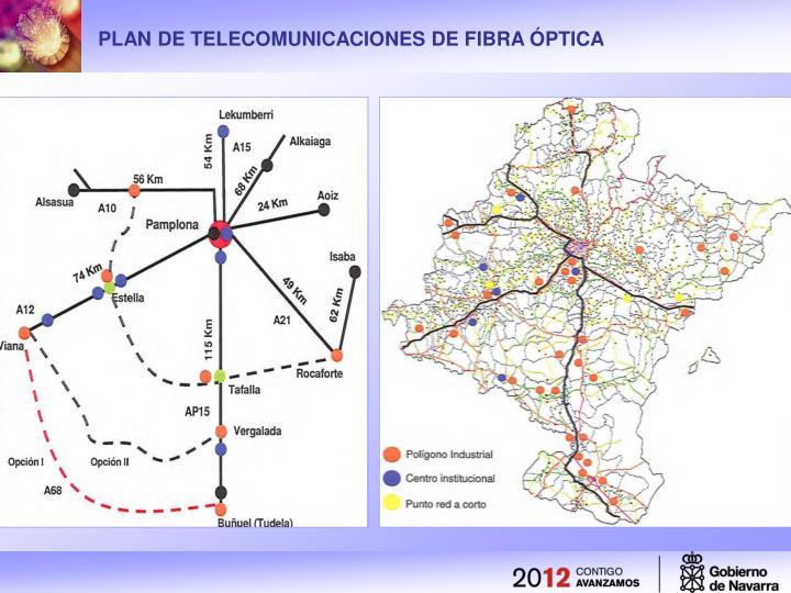PLAN DE TELECOMUNICACIONES DE FIBRA ÓPTICA