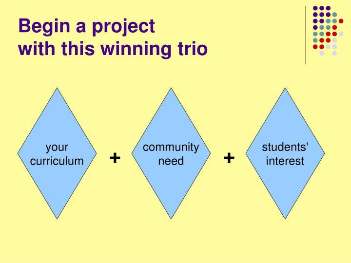 Begin a project