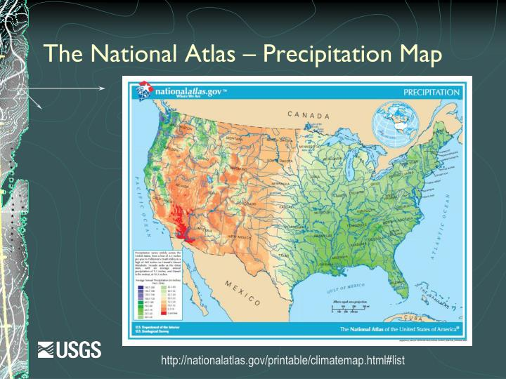 The National Atlas – Precipitation Map