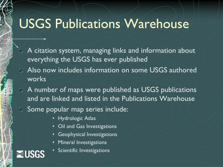 USGS Publications Warehouse