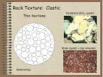 rock texture clastic thin sections