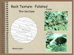 rock texture foliated thin sections