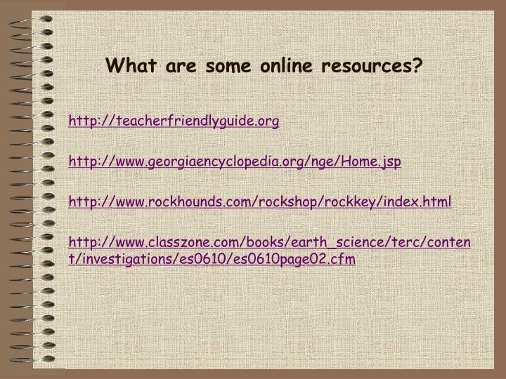 What are some online resources?