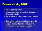 dusse et al 2007
