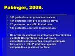 pabinger 2009