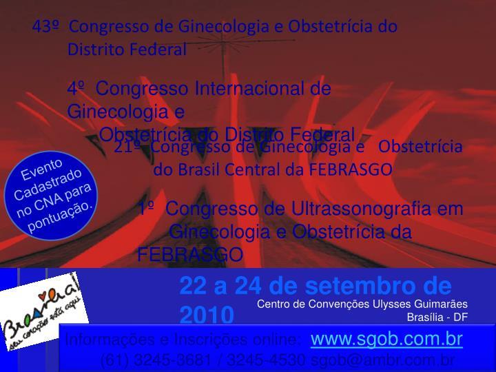 43º  Congresso de Ginecologia e Obstetrícia do