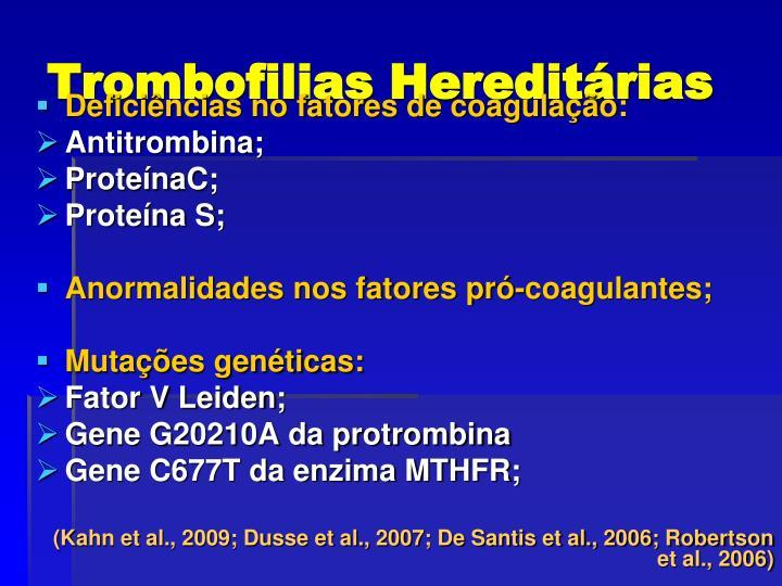 Trombofilias Hereditárias