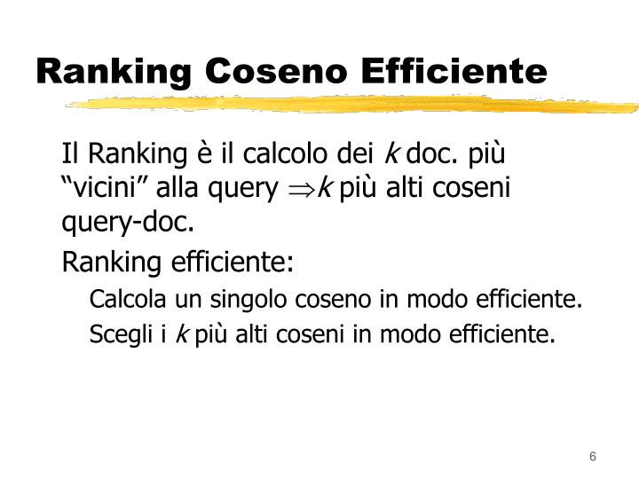 Ranking Coseno Efficiente