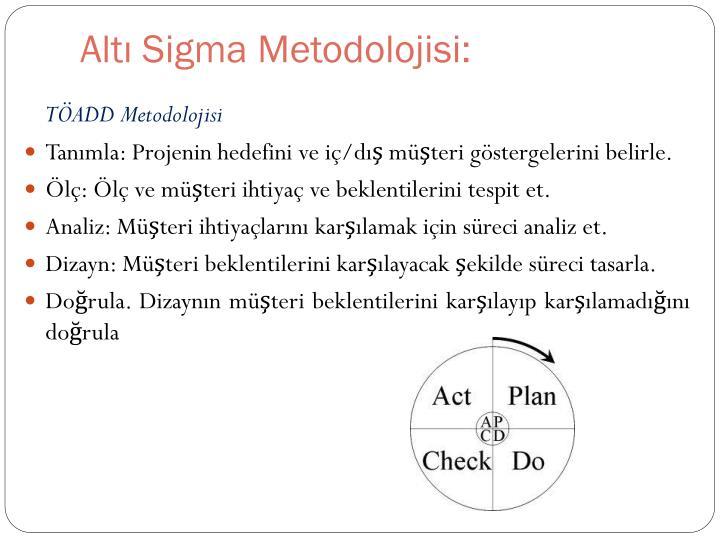 Altı Sigma Metodolojisi: