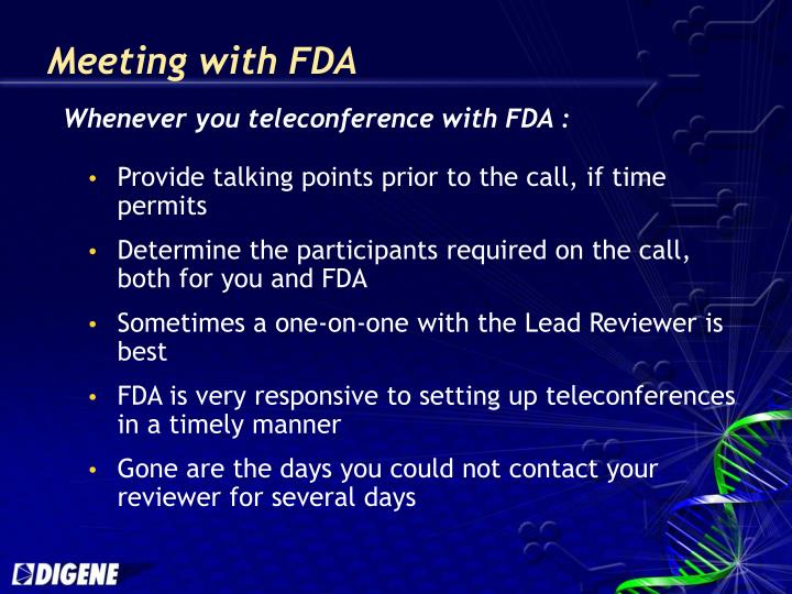 Meeting with FDA