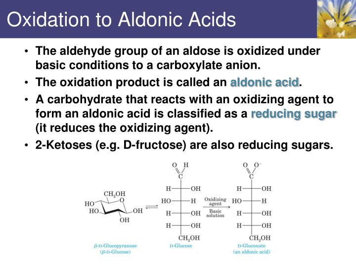 Oxidation to Aldonic Acids