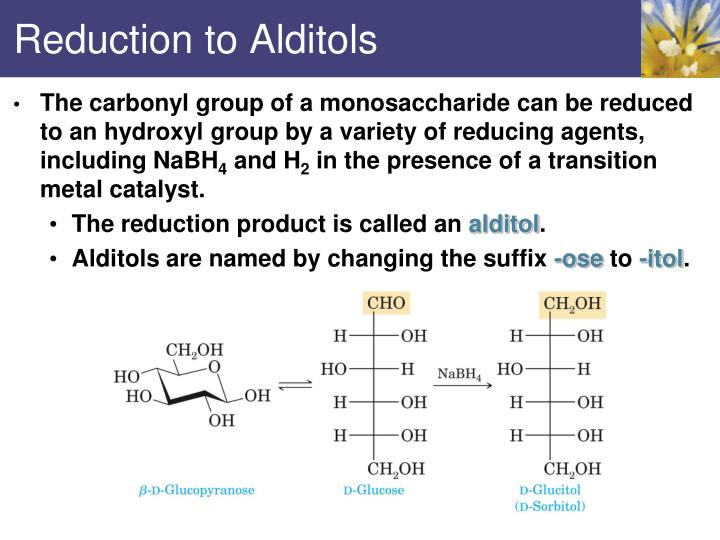 Reduction to Alditols