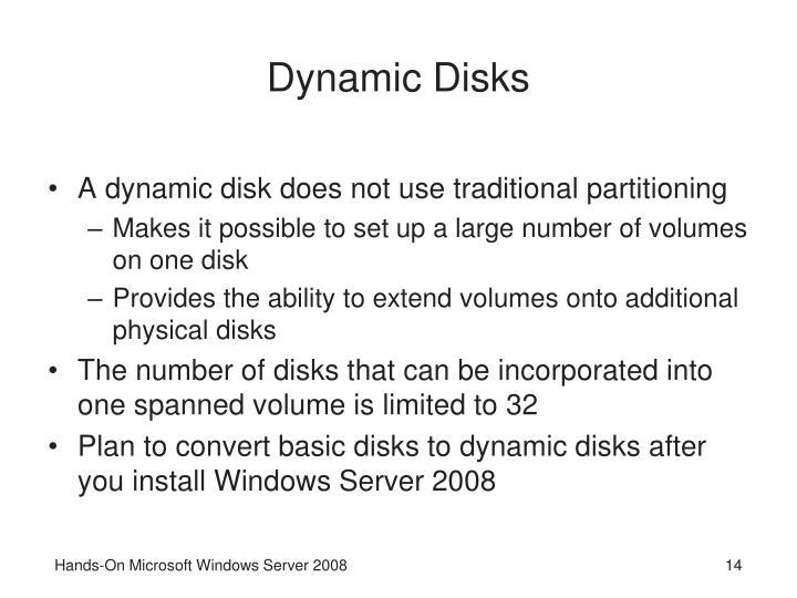 Dynamic Disks