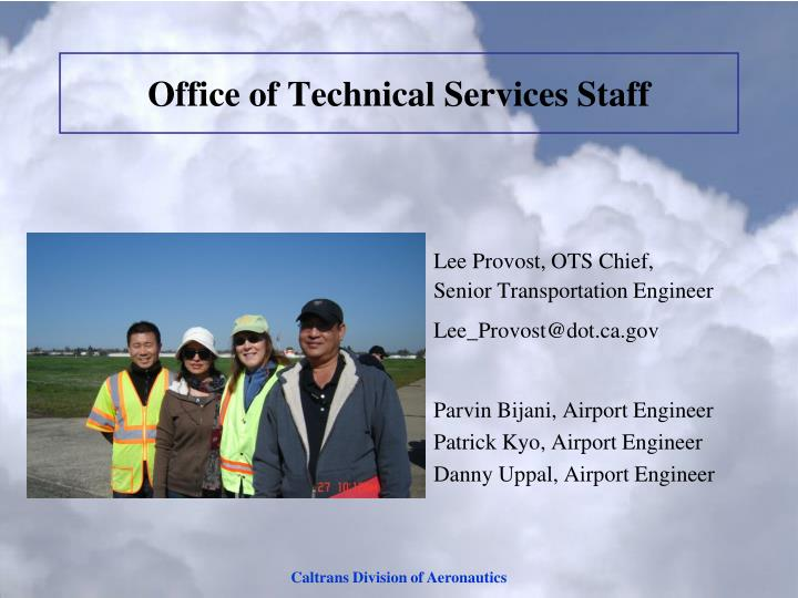 Office of Technical Services Staff
