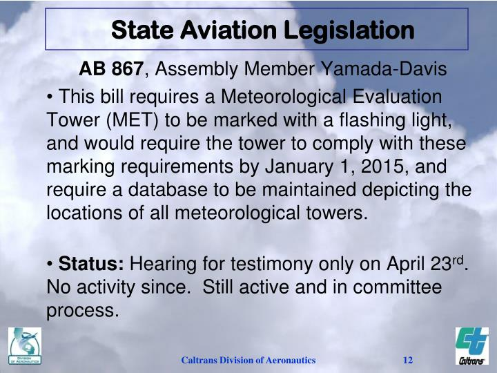 State Aviation Legislation