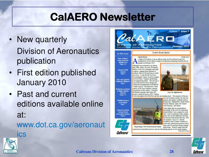 CalAERO Newsletter