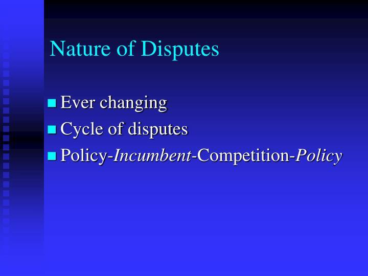 Nature of Disputes
