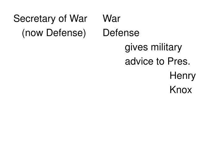 Secretary of WarWar