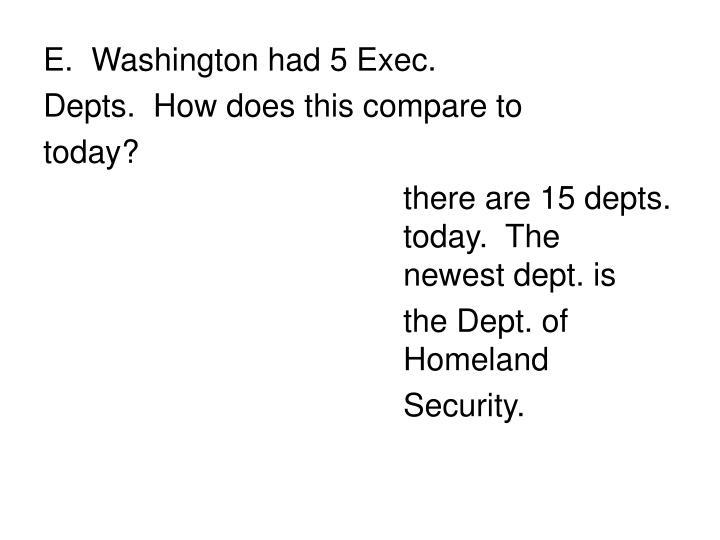 Washington had 5 Exec.