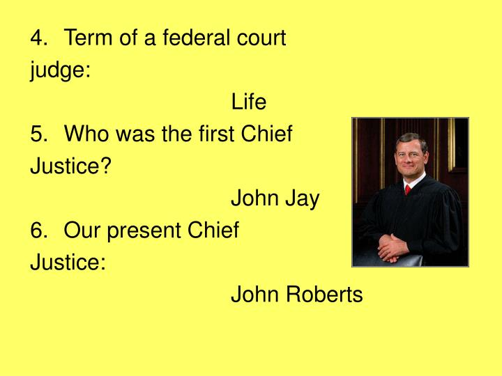 Term of a federal court