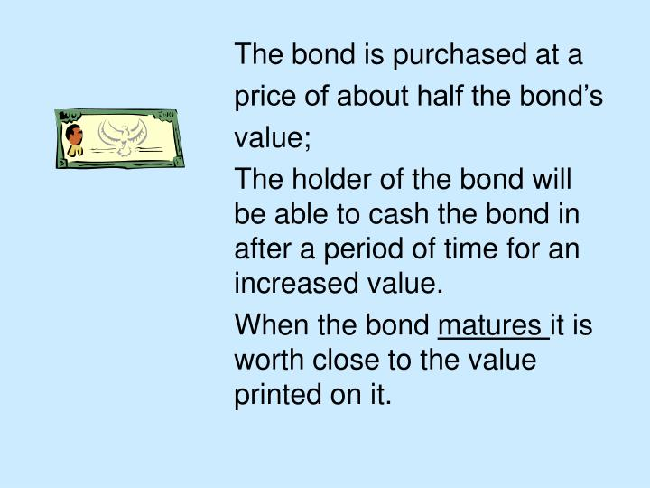 The bond is purchased at a