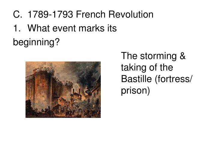 1789-1793 French Revolution