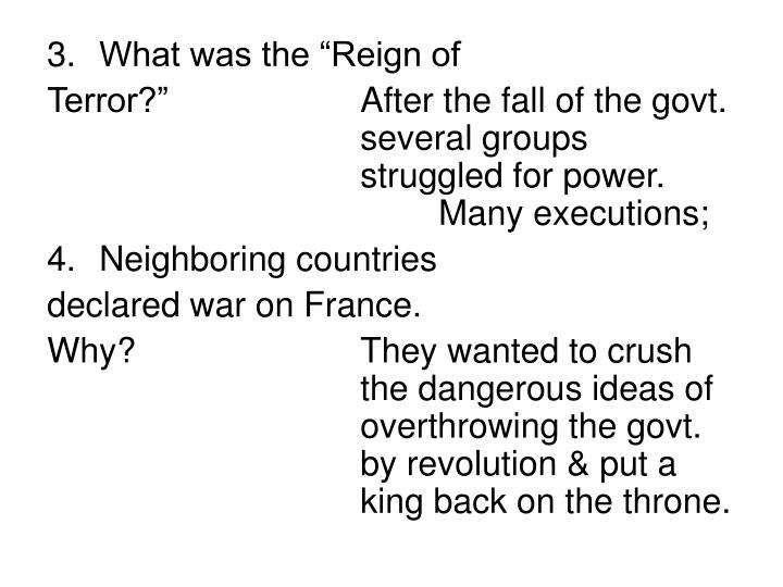 "What was the ""Reign of"