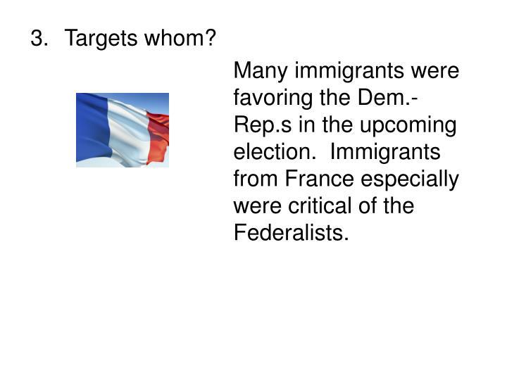 Targets whom?
