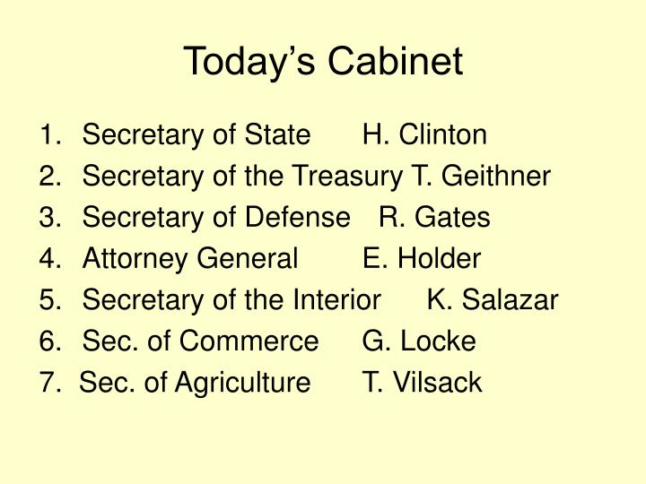 Today's Cabinet