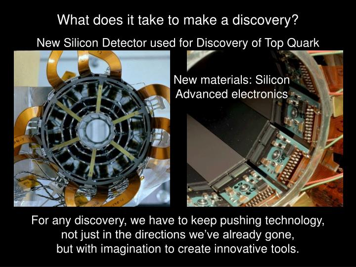What does it take to make a discovery?
