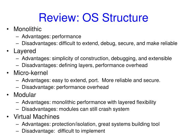 Review: OS Structure