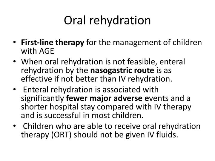 Oral rehydration