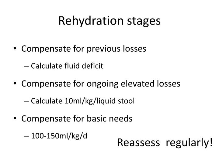 Rehydration stages