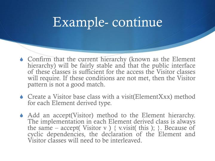 Example- continue