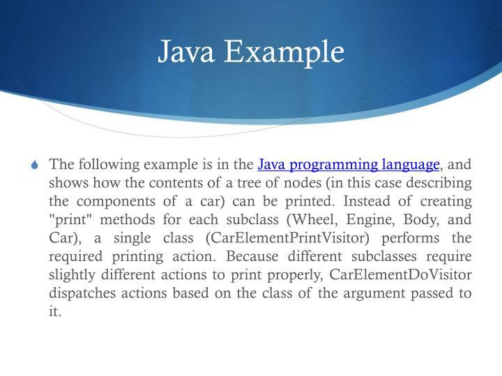 Java Example